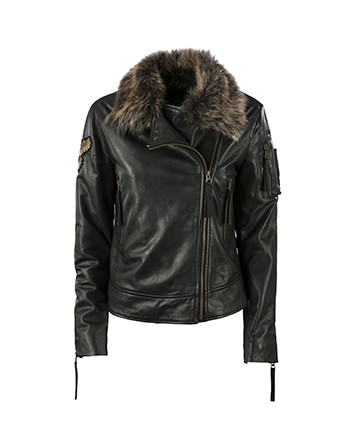 Aeronautica Militare Woman leather jacket