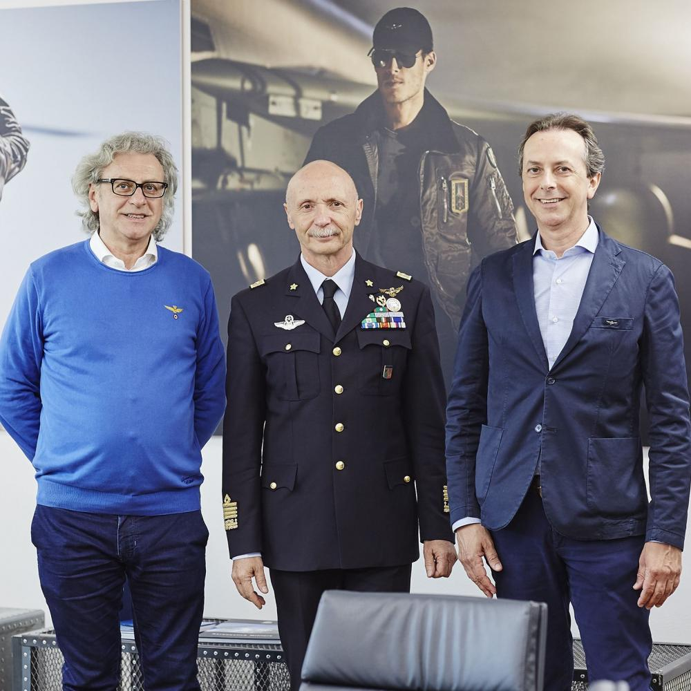 Visita del Capo di Stato Maggiore dell'Aeronautica Militare alla Cristiano di Thiene S.p.A.